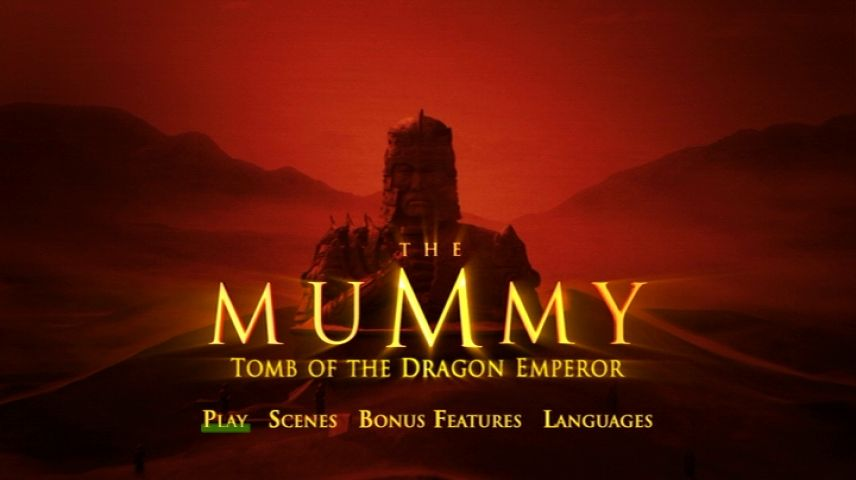 The Mummy Tomb Of The Dragon Emperor 2008 Dvd Menu