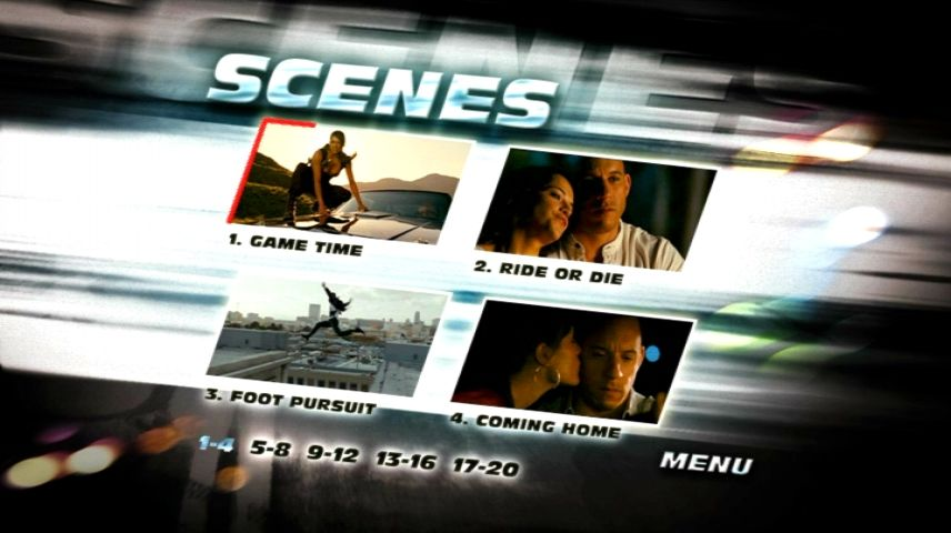 Scene Selection Menu