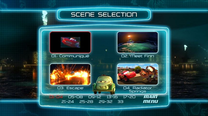 Cars 2 2011 Dvd Menu