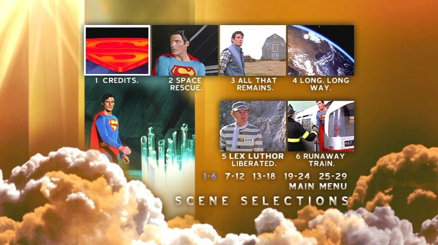 Superman IV: The Quest for Peace (1987) - DVD Movie Menus