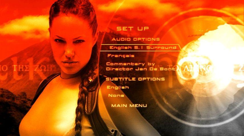 Lara Croft Tomb Raider The Cradle Of Life 2003 Dvd Menu