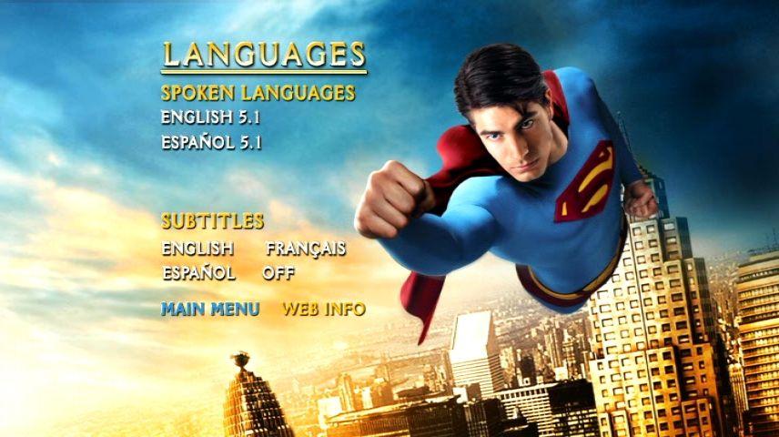 Superman Returns (2006) - DVD Movie Menus