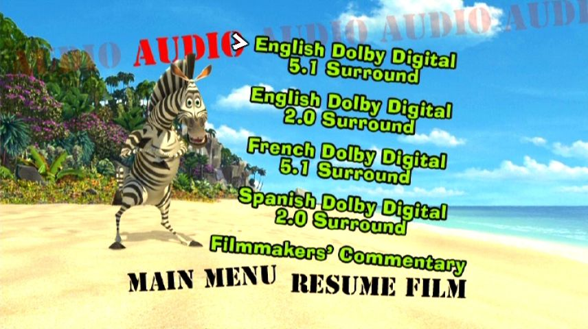 Madagascar (2005) - DVD Movie Menus