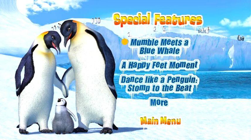 Happy Feet 2006 Dvd Menu