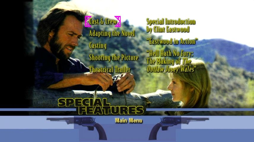 The Outlaw Josey Wales (1976) - DVD Movie Menus