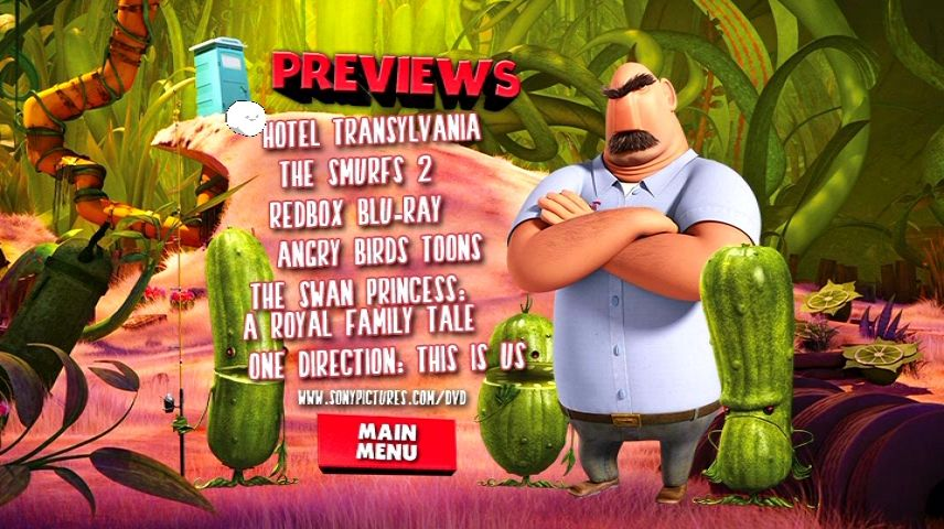 Cloudy With A Chance Of Meatballs 2 2013 Dvd Menu