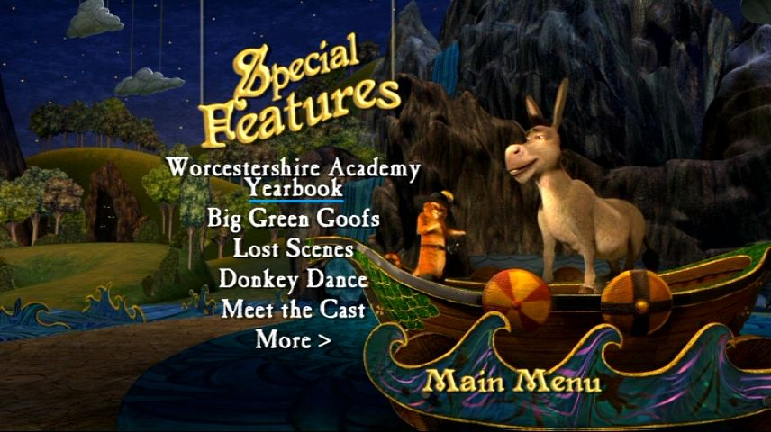 Shrek The Third 2007 Dvd Menu