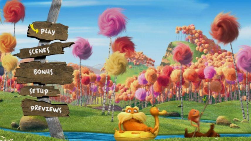 Dr Seuss The Lorax 2012 Dvd Menu
