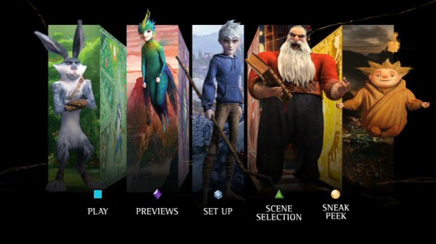 Rise Of The Guardians 2012 Dvd Menu