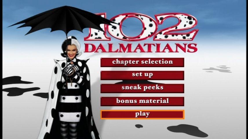 102 Dalmatians 2000 Dvd Menu