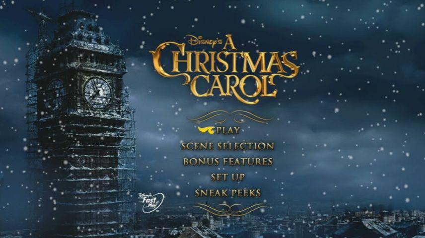 A Christmas Carol 2009 Dvd Menu