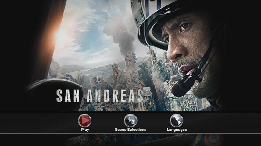 San Andreas 2015 Dvd Menu