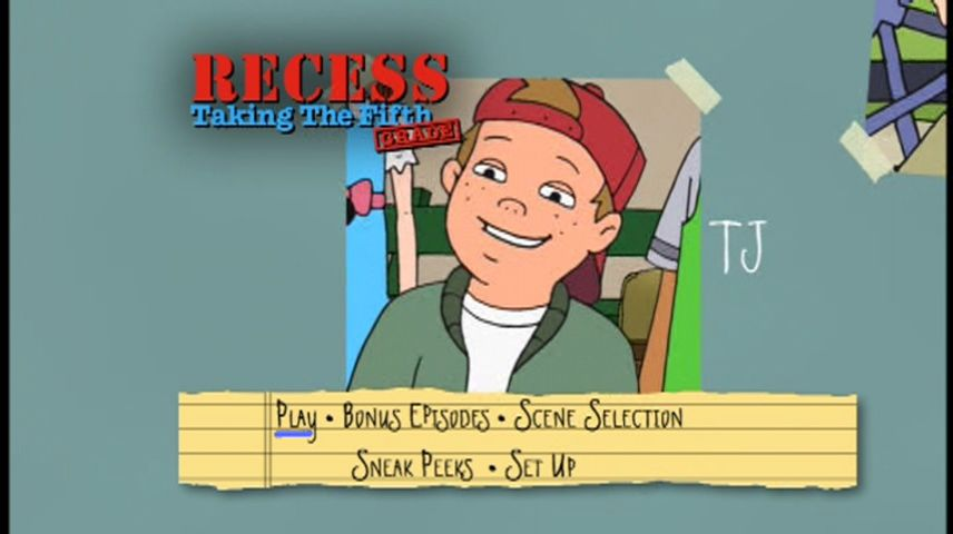 Recess: Taking the Fifth Grade (2003) - DVD Movie Menus