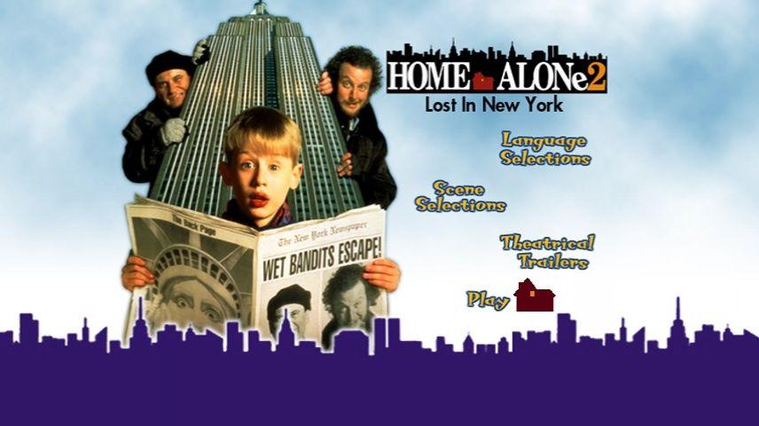 Home Alone 2 Lost In New York 1992 Dvd Menu