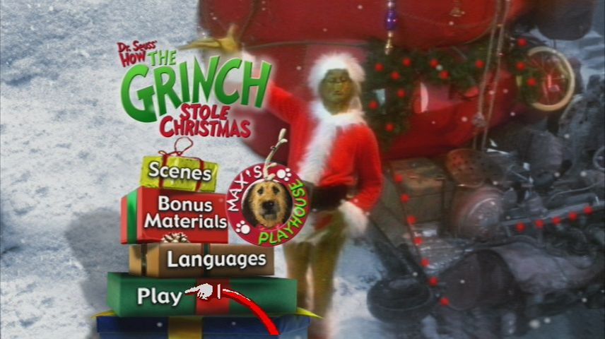 How The Grinch Stole Christmas Movie 2000.How The Grinch Stole Christmas 2000 Dvd Movie Menus