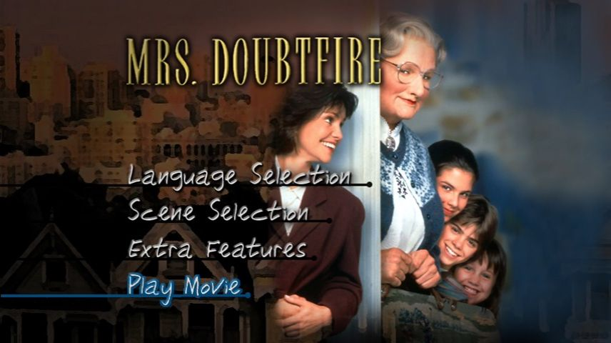 Mrs Doubtfire 1993 Dvd Menu