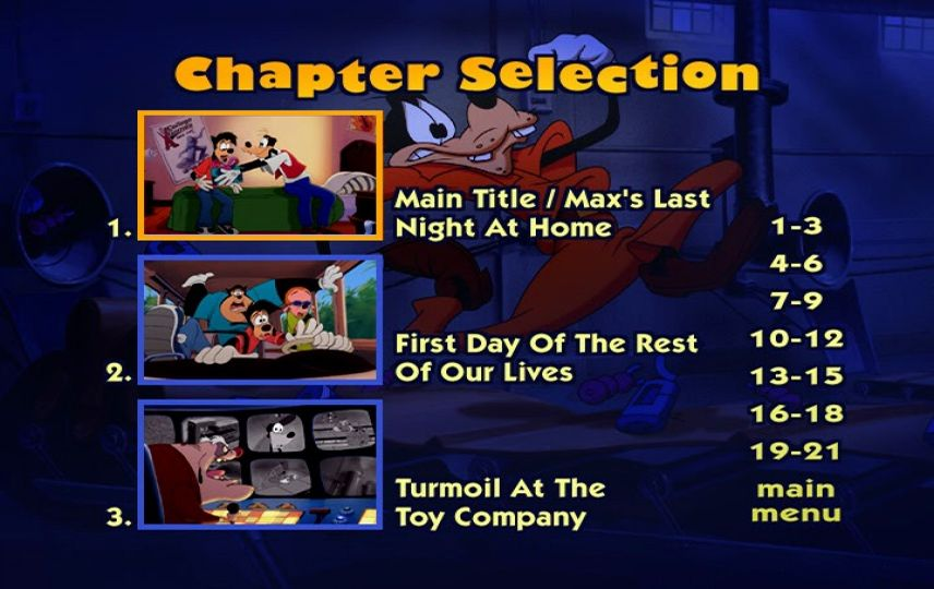 An Extremely Goofy Movie (2000) - DVD Menu