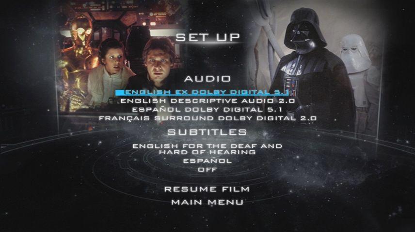 Star Wars Episode V The Empire Strikes Back 1980 Dvd Menu