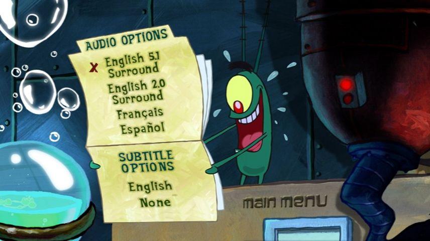 The Spongebob Squarepants Movie 2004 Dvd Menu