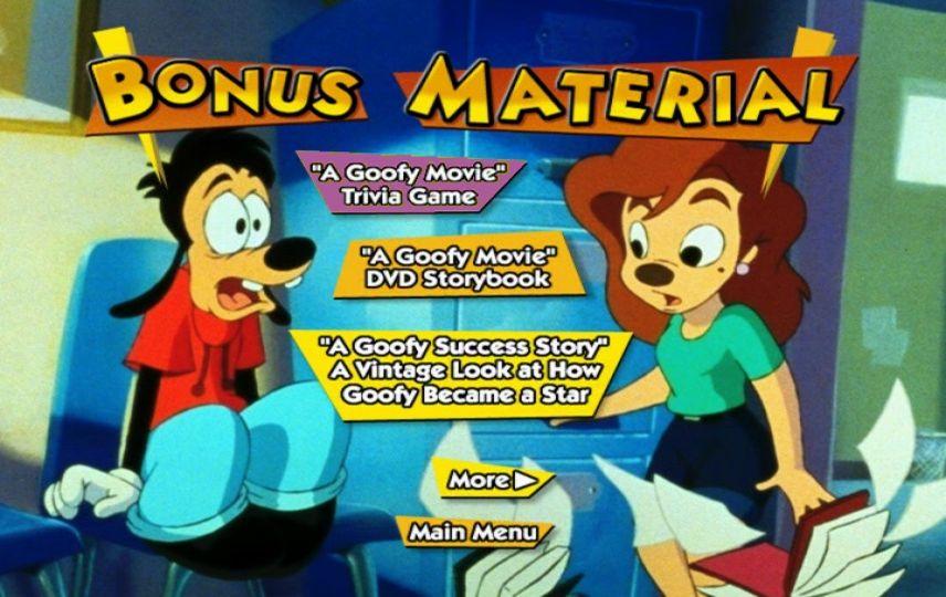 A Goofy Movie (1995) - DVD Movie Menus