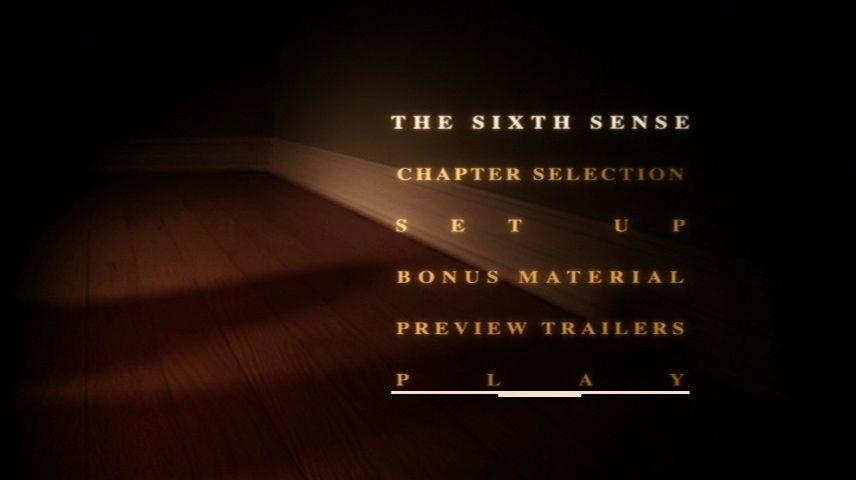 The Sixth Sense 1999 Dvd Menu
