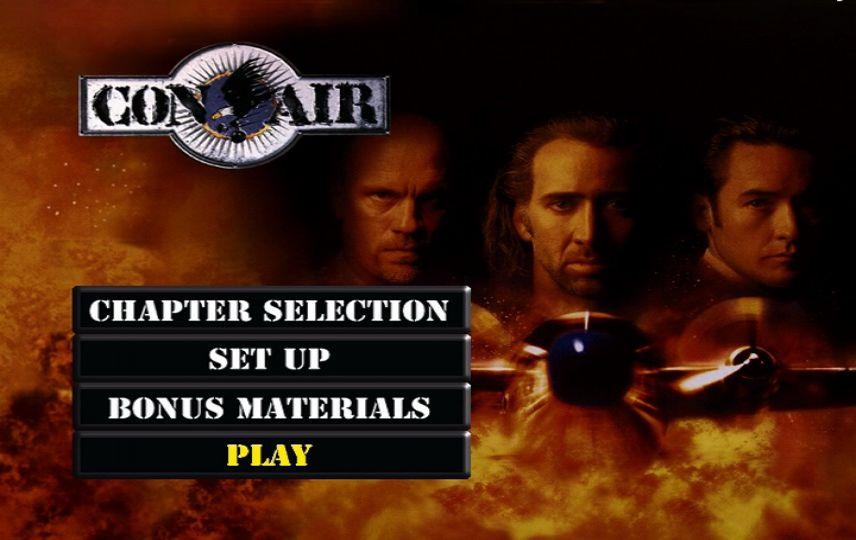 Con Air 1997 Dvd Menu