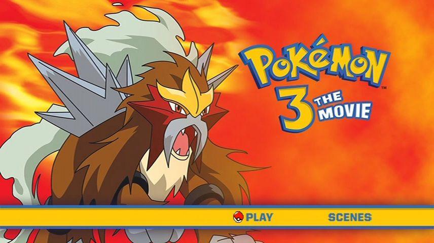 Pokemon 3 Spell Of The Unown 2000 Dvd Menu