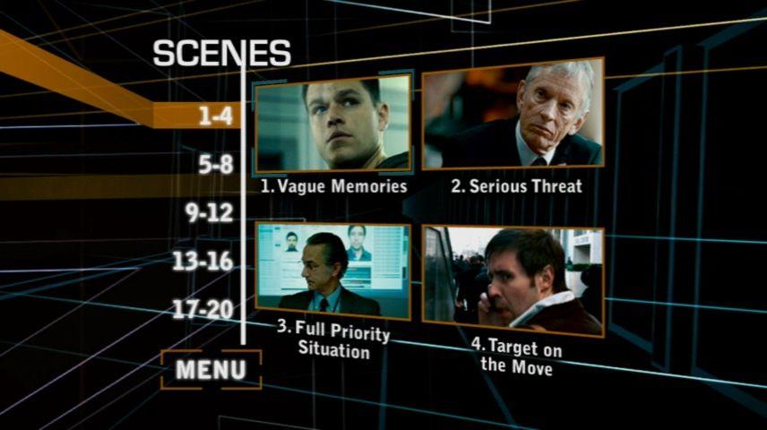 The Bourne Ultimatum 2007 Dvd Menu