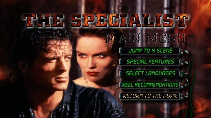The Specialist 1994 Dvd Menu