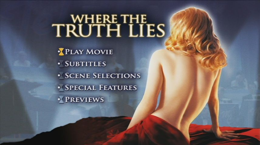 Where the Truth Lies (2005) DVD Menu
