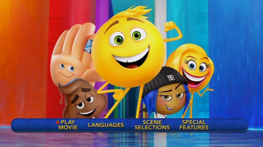 The Emoji Movie 2017 Dvd Menu