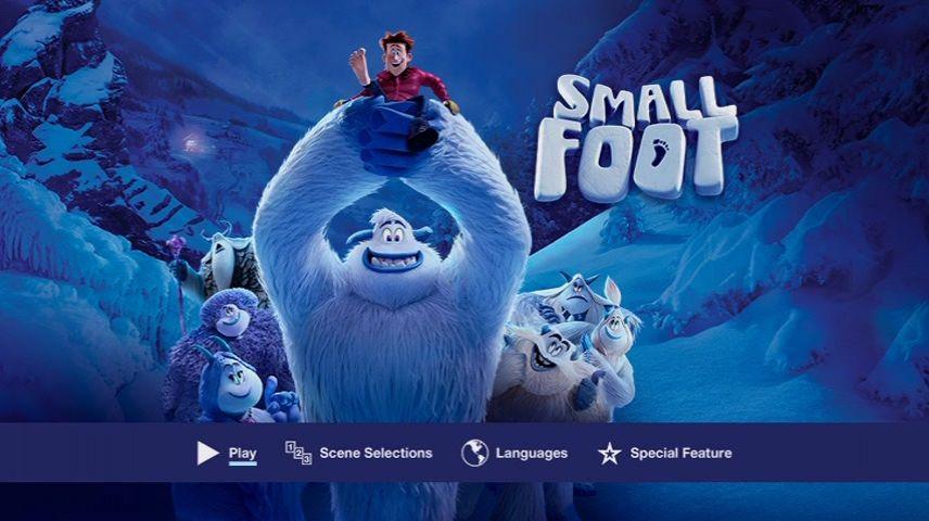 Smallfoot 2018 Dvd Menu