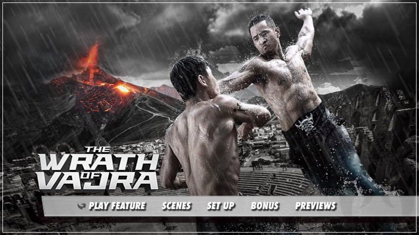 The Wrath of Vajra (2013) DVD Menu