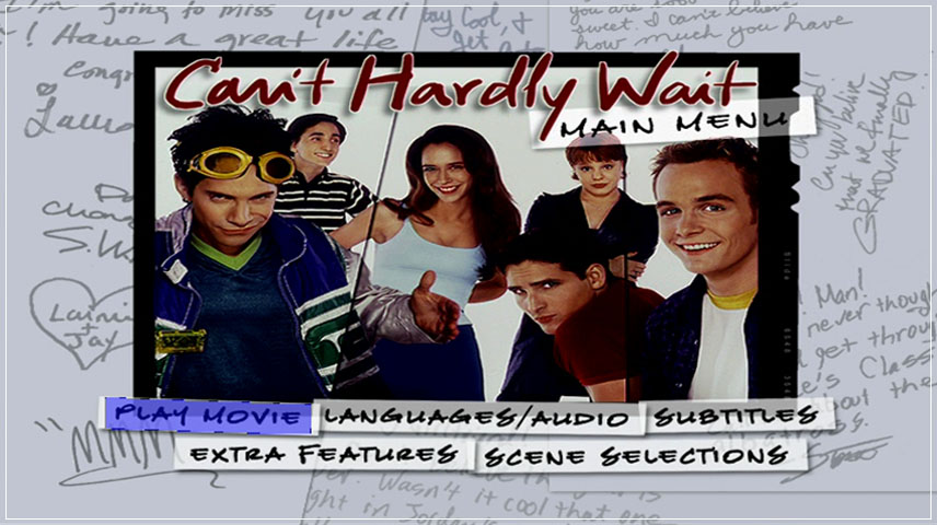 Can't Hardly Wait (1998) DVD Menu