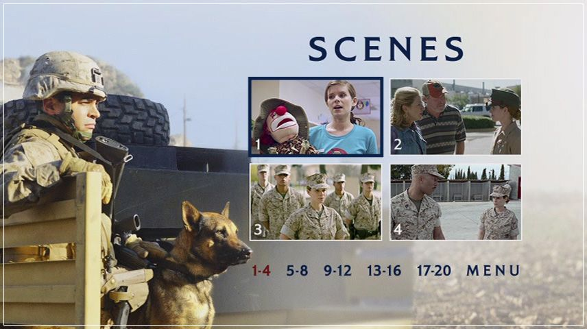 Megan Leavey (2017) DVD Menu