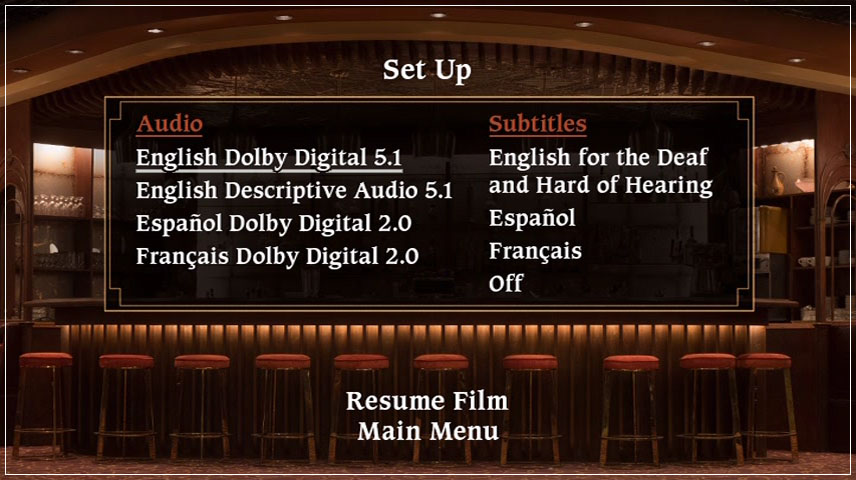 Bad Times at the El Royale (2018) DVD Menu