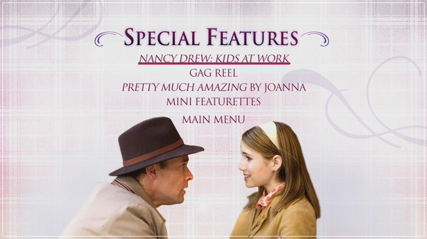 Nancy Drew (2007) DVD Menu