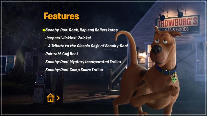 Scooby-Doo! Curse of the Lake Monster (2010) DVD Menu