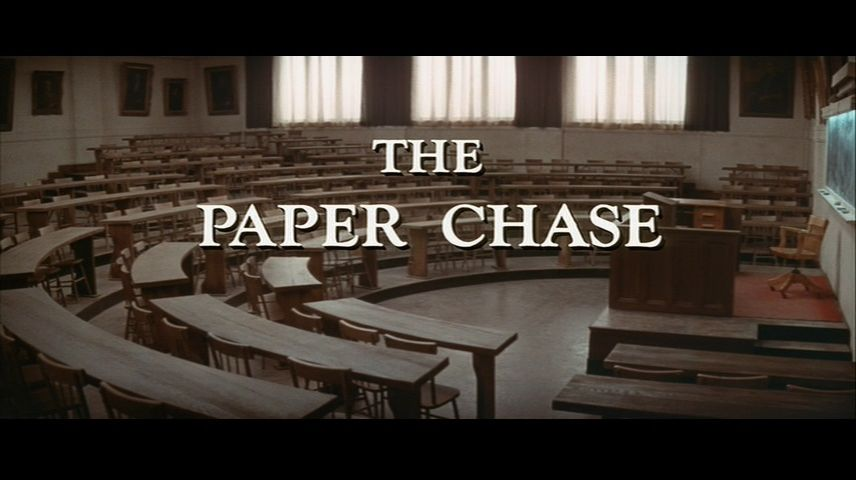 The Paper Chase (1973) DVD Menu