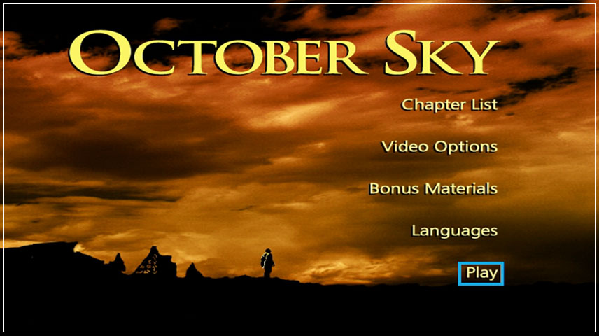 October Sky (1999) DVD Menu