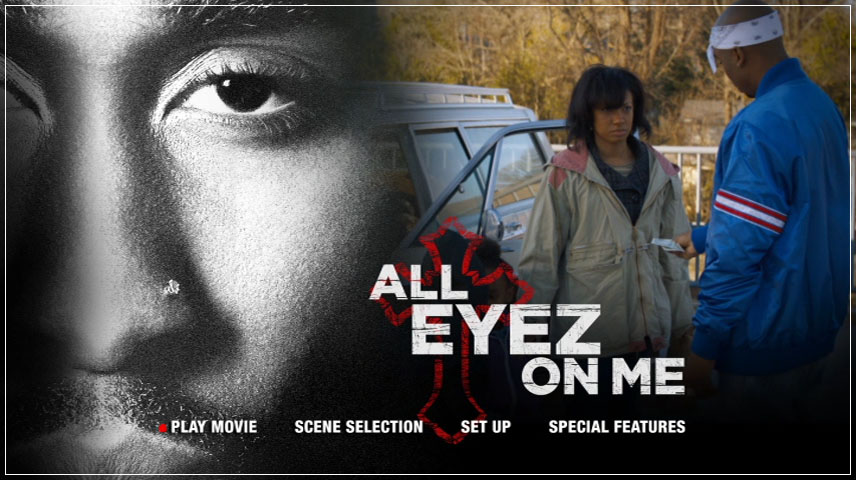 All Eyez on Me (2017) DVD Menu