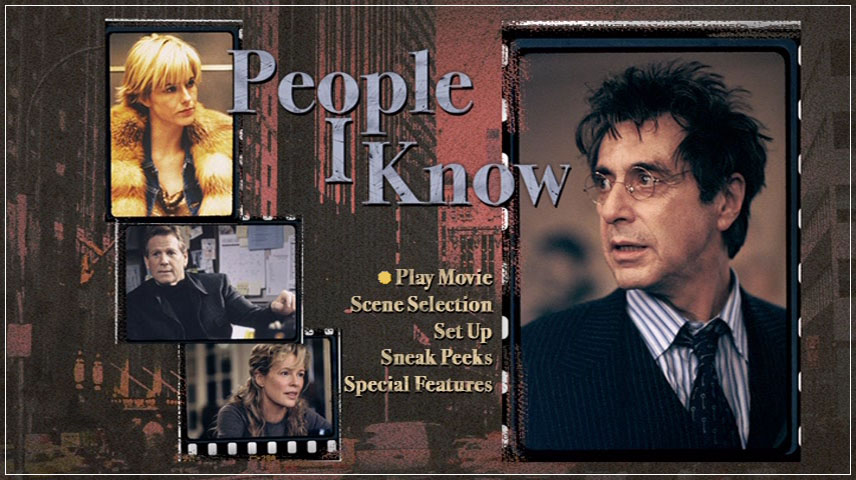 People I Know (2002) DVD Menu