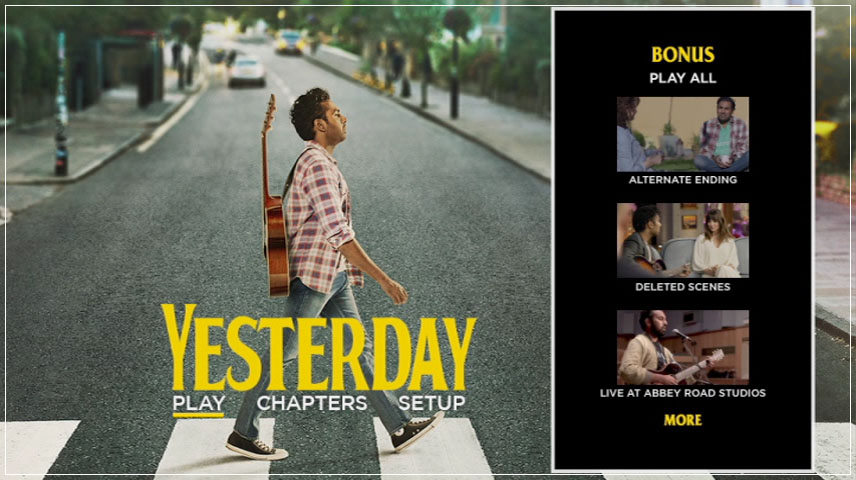 Yesterday (2019) DVD Menu