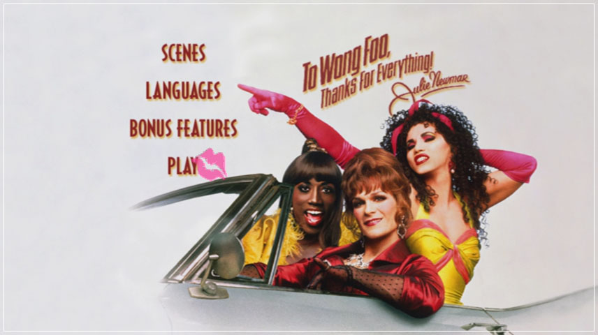 To Wong Foo Thanks for Everything, Julie Newmar (1995) DVD Menu