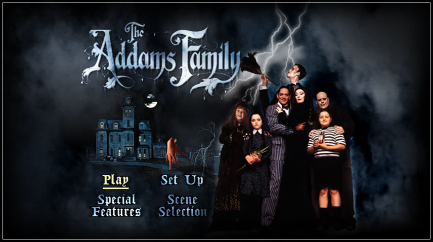 The Addams Family (1991) DVD Menu