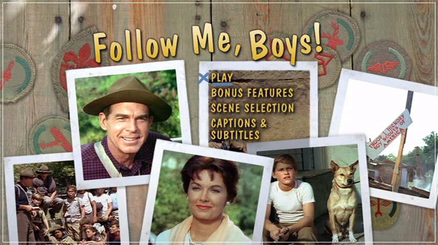 Follow Me, Boys! (1966) DVD Menu
