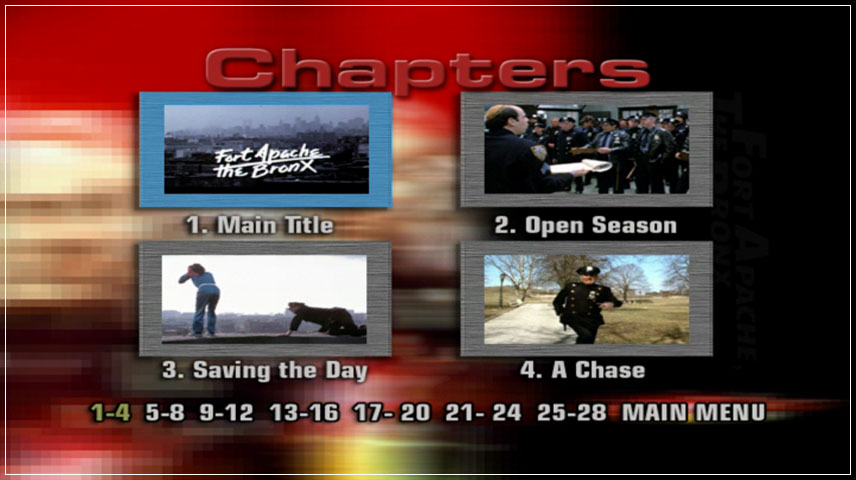 Fort Apache, the Bronx (1981) DVD Menu
