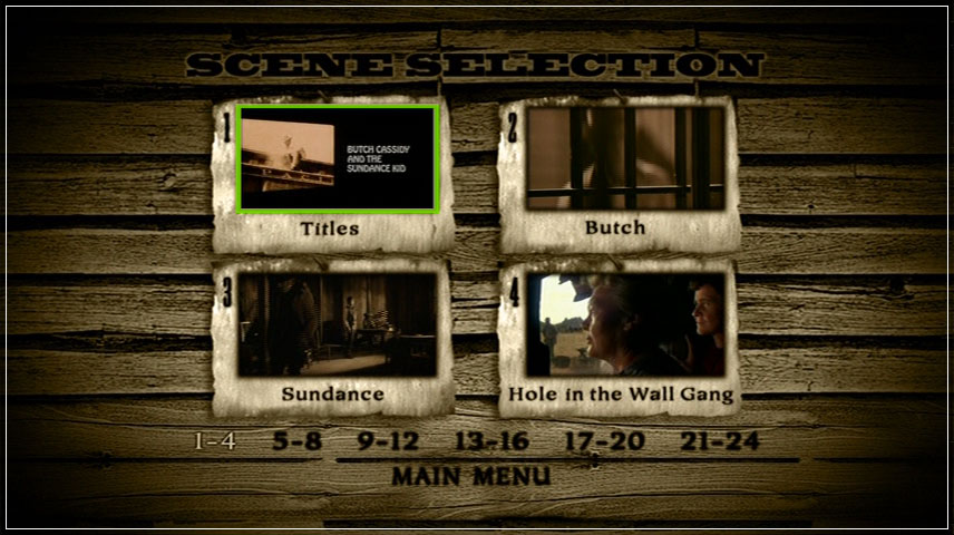 Butch Cassidy and the Sundance Kid (1969) DVD Menu