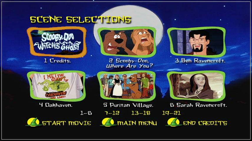 Scooby Doo And The Witch S Ghost 1999 Dvd Menu