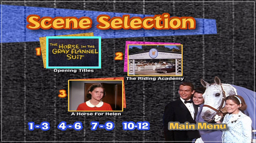 The Horse in the Gray Flannel Suit (1968) DVD Menu
